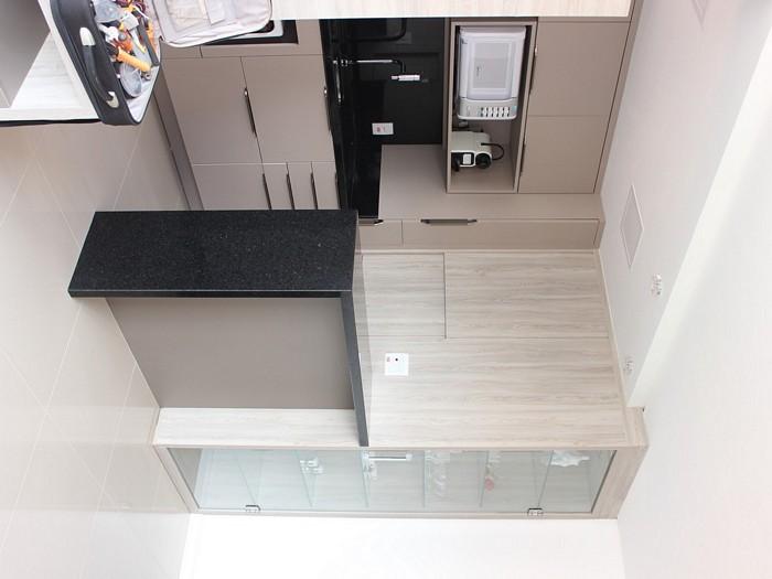Foto montagem vista cozinha integrada
